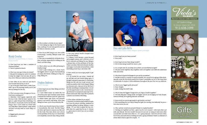 GIM 34 37 Page 2 820x495 Getting Fit: Golden Isles Magazine Article Photoshoot