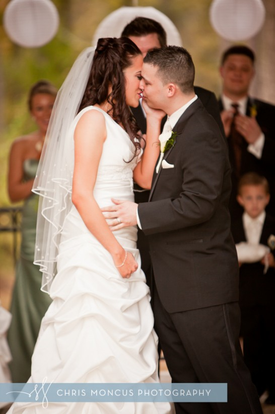 Kissing Candi Padron and Laz Duarte Wedding in Tampa, FL